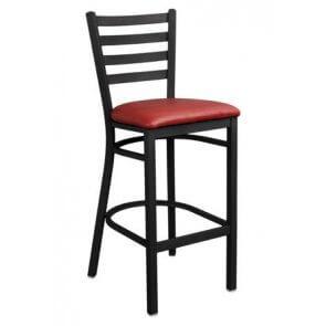 Metal Ladderback Barstool