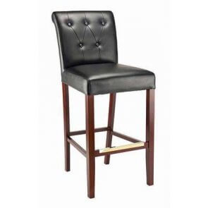 Fully Upholstered Bar Stool with Tufted Back