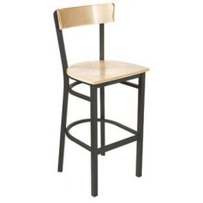 Banquet Wood and Metal Barstool