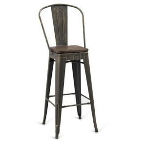 Indoor Steel Barstool - Aged Copper Finish