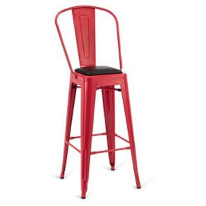 Indoor Steel Barstool - Red Finish