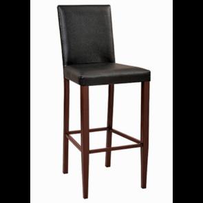 Bellini Wood Look Metal Barstool