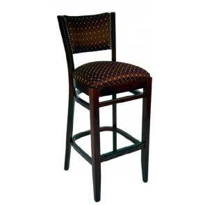 Nailhead Trim Upholstered Barstool