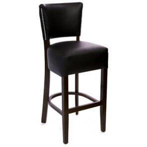 Deluxe Nailhead Trim Upholstered Barstool