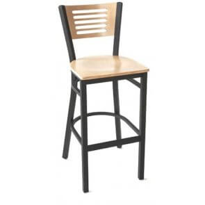 Metal and Wood Index Barstool