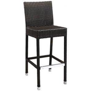 Aluminum and PE Weave Patio Barstool
