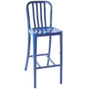 Custom Color Vertical Patio Aluminum Barstool