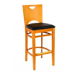 Bella Bar Stool in Cherry Finish (Front)